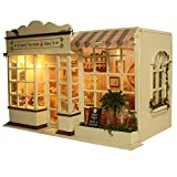 XXY-shop Miniatur Puppenhaus Set,Puppenspielzeug Set Kinder Holzpuppenhaus -Sweet Cake House Modell...