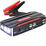 Tinyfish K12 Multi-Function Power Supply and Jump Starter with 13800mAh 4USB Power Bank Emergency Car Battery Booster Pack Vehicle Jump Starter Charger SOS Flashlight