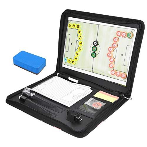 SALUTUYA Tablero de Entrenamiento de fútbol Tablero de táctica magnética de fútbol Tablero de Estrategia de tácticas magnéticas Plegable Multifuncional para Partidos de fútbol para Deportes