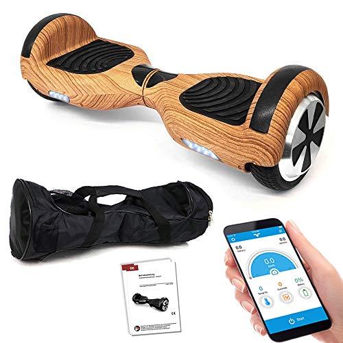 Smartway Balance Scooter 6, 5 Zoll 600W-Motion V.5 mit App Funktion, Bluetooth Lautsprecher, Kinder Sicherheitsmodus, Elektro Self Balance E-Scooter, 600 Watt*