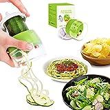 Best Spiral Slicers - ATFUN Handheld Spiralizer Vegetable Slicer 4 in 1 Review