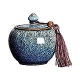 TYHZ Cremación Urnas Cremación de mascotas URN para las urnas de cenizas para cenizas para adultos urnas de cremación de urnas funerarias, pequeñas urnas conmemorativas humanas, borlas de cerámica con