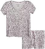 Marilyn Monroe Women's Pajama Set – 2 Piece Super Soft Sleep Shirt and Matching Shorts, Size Large, Dahlia Animal