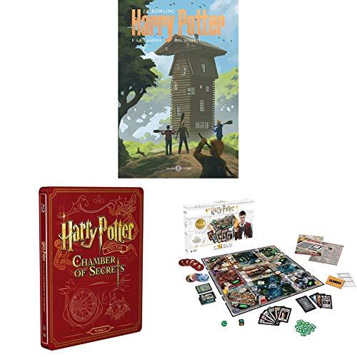 Harry Potter E La Camera Dei Segreti (Steelbook + Libro) + Winning Moves Gioco da Tavolo-Cluedo Harry Potter
