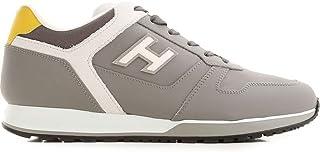 Luxury Fashion | Hogan Men HXM3210Y861N7K948M Grey Leather Sneakers | Spring-summer 20