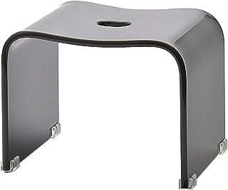 クーアイ(Kuai) アクリル バスチェア 風呂椅子 単品 Mサイズ 高さ25cm モダンシリーズ (グレー)