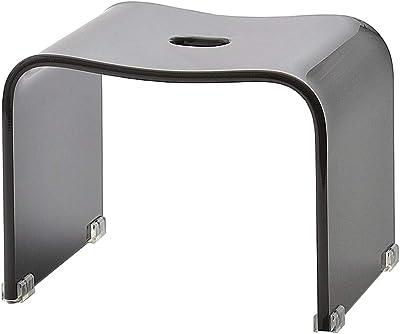 クーアイ(Kuai) アクリル バスチェア 風呂椅子 単品 Mサイズ 高さ26cm モダンシリーズ (グレー)