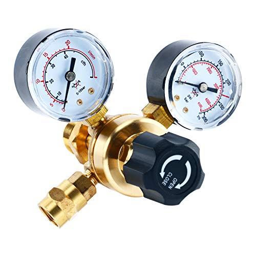 YaeTek Argon CO2 Regulators Gauges Gas Welding Regulator CGA580 Mig Tig Weld 0-4500PSI / 0-10BAR