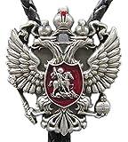 Original Classic Russian Empire Eagle Bolo Tie Cravate Wedding Leather Necklace