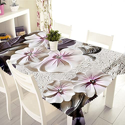 Aeici Manteles Mesa Rectangular 152X228Cm, Mantel Rectangular Grande Poliéster para Cocina, Mantel Flores De Cerezo