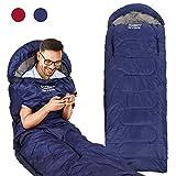Camping Sleeping Bag - 3 Season Warm & Cool Weather - Lightweight...