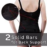 Fajas postparto,INNObeta cinturón de recuperación con soporte para la espalda, faja abdominal elástico para para aliviar el dolor,transpirable,cómoda y ajustable con doble velcro(Negro,S/M)