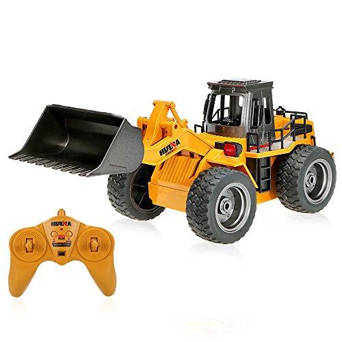 HUI NA TOYS NO.1520 2.4G 6CH Mini RC Bulldozer d'Ingénierie Véhicules de Camions Jouets pour Enfants