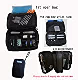 Chillpack Double Bag Diabetic Travel Organizer Cooler Bag for Insulin, Supply Kits with 2 ...