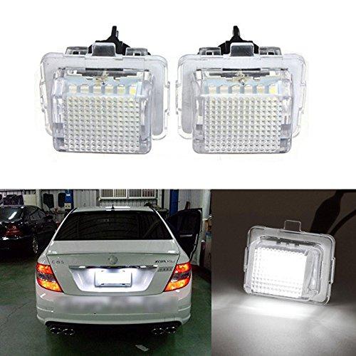 Ricoy CAN-Bus-LED-Beleuchtung für das Nummernschild, Weiß, 2 Stück [Kompatibilität mit Linkslenker-Fahrzeugen nicht gewährleistet]
