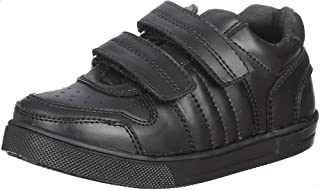 Bellino Perforated Cap Toe Velcro Strap Faux Leather Fashion Sneakers for Boys
