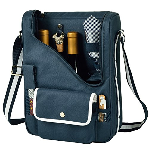 Picnic at Ascot Original Insulated Wine and Cheese Cooler Bag - Designed, Assembled & Quality Approved in the USA