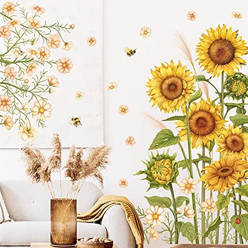 Wandaufkleber, Sonnenblumenpflanze,...