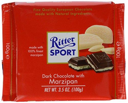 Ritter Sport Dark Chocolate With Marzipan Bar 100 Gram