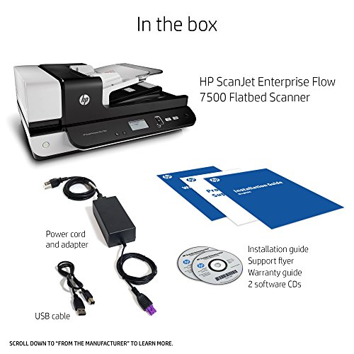 HP Scanjet Enterprise Flow 7500 Flatbed Scanner, (L2725B)