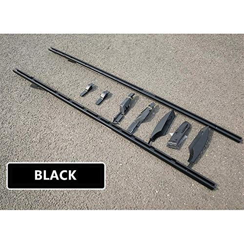 ALBBMY Dachträger Fit for Land Rover Discovery 3 4 LR3 LR4 2003-2017 Aluminiumlegierung Rails Bar Gepäckträgerstangen Topleiste Racks Schienenkästen (Color : Black)