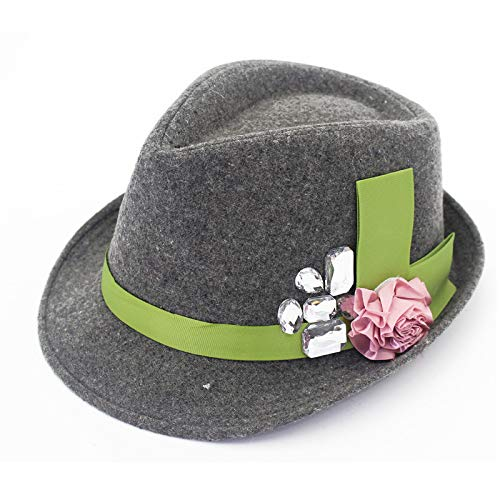 JXFM Wool hoed dame kleur bijpassende strepen elegante temperament herfst en winter hoed middelbare leeftijd schilder hoed wastafel cap curling grijze code