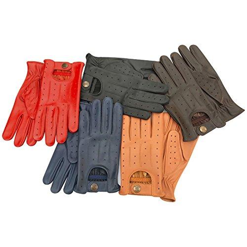 Veste de moto moto Fashion non doublé en cuir souple d'hiver Prime Conduite Gants 7012 Jaune jaune grand