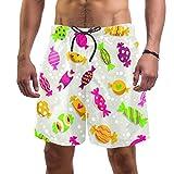 Slips de natación para Hombre Lindo Colorido Caramelo Banador de Natacion para Hombre Traje de Bano Deportivos Short para Natacion Playa Piscina XXL