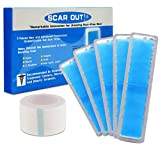 ScarOut! Silicone Scar Sheets for Scar Removal (2 Month Supply) – C Section Recovery Scar Treatment, Keloid Scar Removal and more! – 5x Silicon Sheets For Scars in two sizes – Scar Gel Silicone Tape