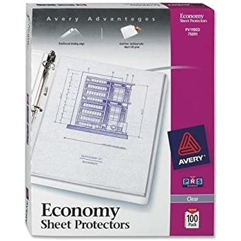 Letter Size Charles Leonard Sheet Protectors Top Loading with Binder Holes Clear 48115 2 Mils Economy Weight 15-Pack