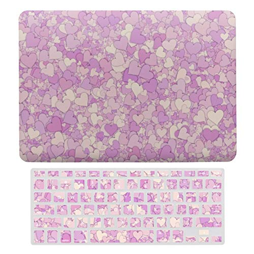 For MacBook New Pro 13 Touch Case A1706、A1989、 A2159, Plastic Hard Shell & Keyboard Cover Compatible with MacBook New Pro 13 Touch, I Choose Love Laptop Protective Shell Set