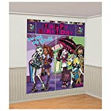 Monster High Scene Setter Wall Decorating Set (Each) - Party Supplies