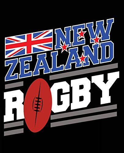 New Zealand Rugby: New Zealand Rugby Composition Notebook Back to School 7.5 x 9.25 Inches 100 College Ruled Pages Sports Journal Gift