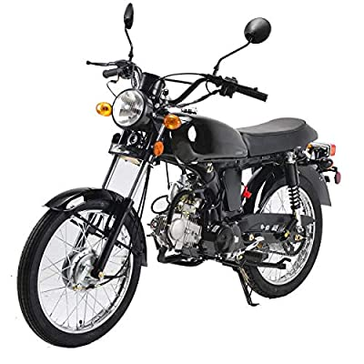 X-PRO 125cc Cafe Cruiser Racer Gas Bike Bicycle Style Motorcycle Street Bike Motorcycle Bike (Black) from X-Pro