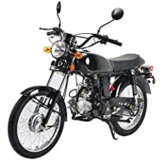"""125cc, Single Cylinder, air-cooled, 4-stroke engine puts out strong, predictable power with incredible gas mileage. Front and Rear Big 17"""" tires offer great traction. Wide, thickly padded seat ensures incomparable rider and passenger comfort and styl..."""