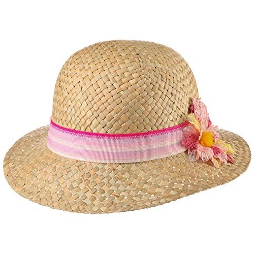 Lipodo Sandra Mädchen Strohhut - Sommerhut Kinder - Strandhut Made in Italy - Kinderhut aus Stroh - Mädchenhut Frühjahr/Sommer - Hut Natur 55 cm