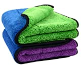 Sinland Ultra Thick Plush Microfiber Car Cleaning Towels Buffing Cloths Drying Towel 16Inch