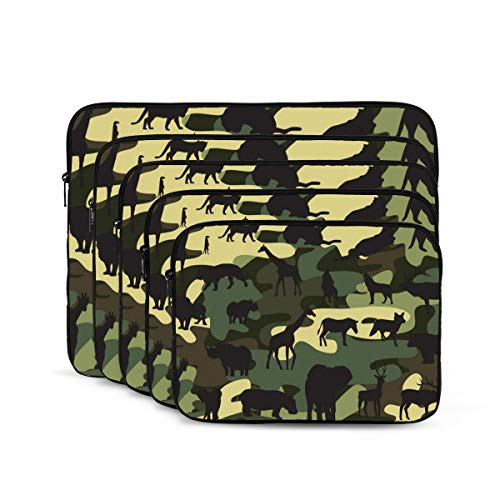 KDIEDIEAS Camouflage 12/13/15/17 Inch Laptop Sleeve Bag for MacBook Air 13 15 MacBook Pro Portable Zipper Laptop Bag Tablet Bag,Diving Fabric,Waterproof