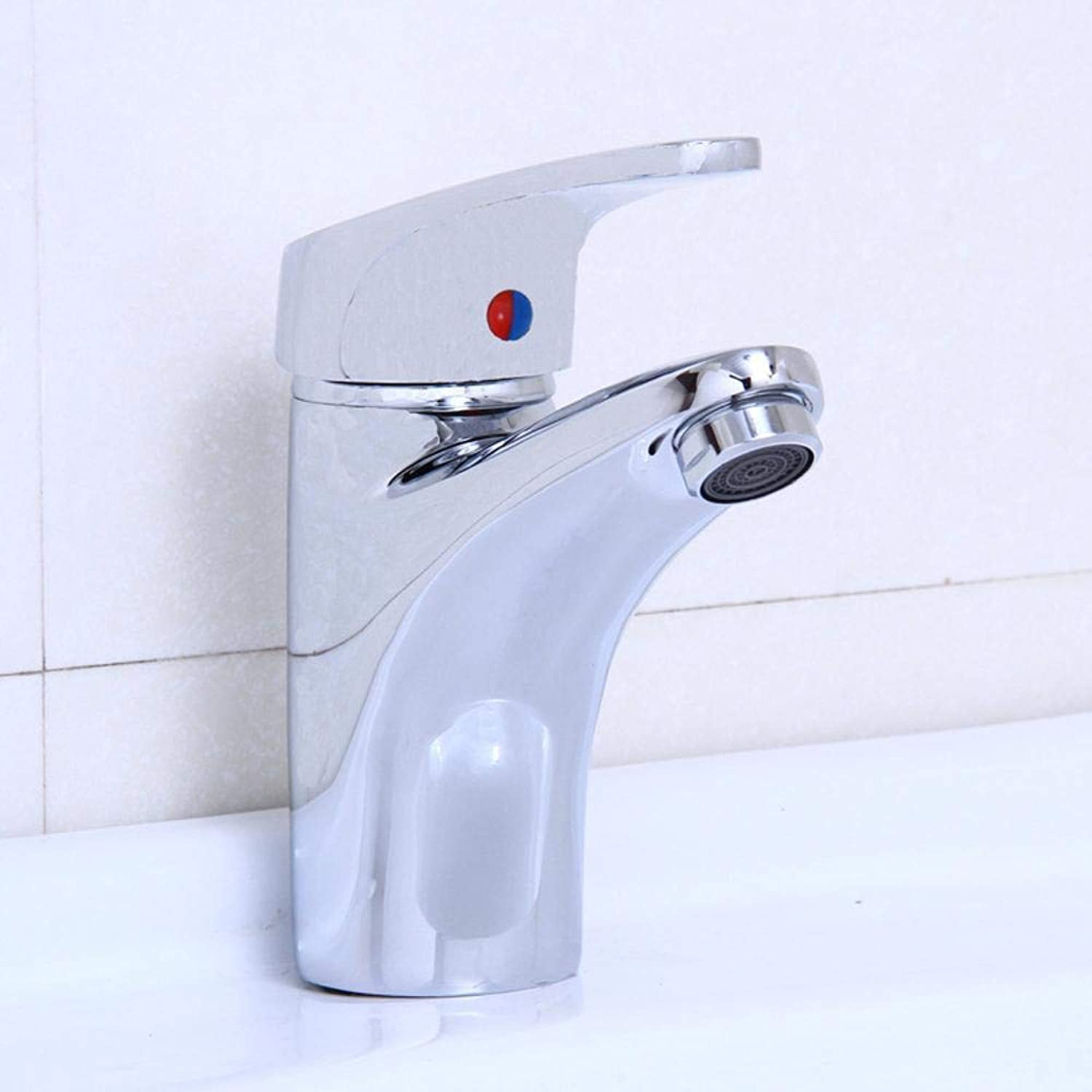 Qpw Sink Faucet All Copper Chrome hot and Cold Basin Faucet washbasin Faucet Single Hole Faucet