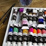 OfficeTree Acrylfarben Set 26 Tuben à 12 ml – Auf Wasserbasis – Acrylic Paint für Acrylmalerei – Für Papier, Leinwand, Holz, Stein UVM - 6