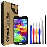 RepairPartsPlus Replacement LCD Screen and Glass Touch Digitizer Premium Kit for Samsung Galaxy S5 G900 (Black)