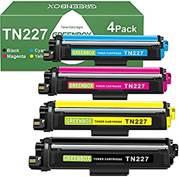 4-Pack GREENBOX Compatible Toner Cartridge Replacement for Brother Printer