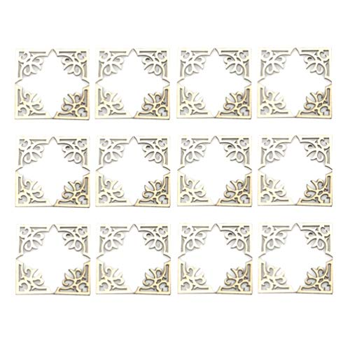 Exceart 100 Stks Hoekbeschermer Houten Boek Hoek Decoratieve Beschermer Album Hoek Hol Houten Plakjes Diy Hanger Ambachten