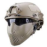 MEYLEE Half Face Lower Mask Taktische Netzmaske, Kann mit schnellem Helm,...