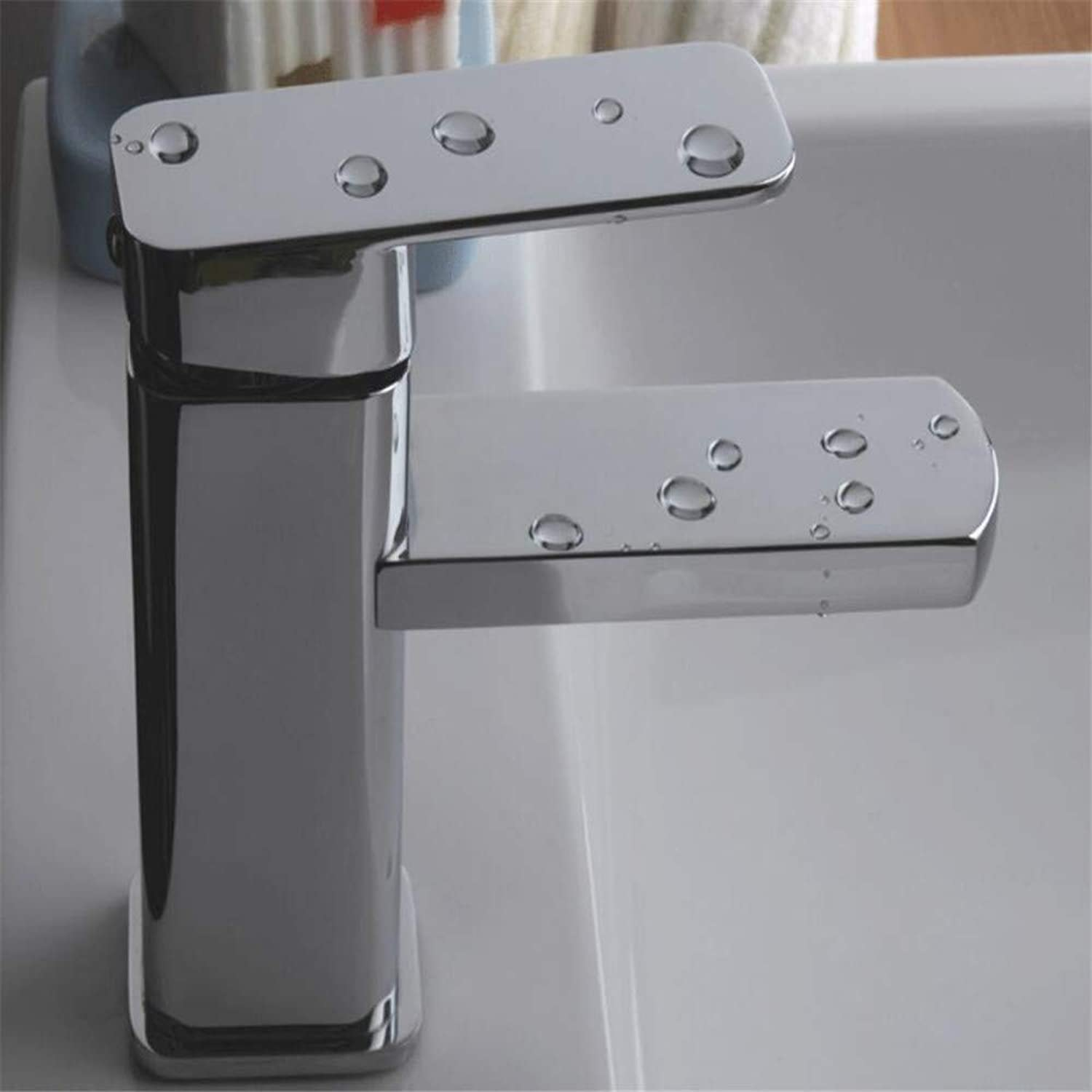 Basin Mixer Tap ?Faucet Hot and Cold Washbasin Faucet Above Counter Basin Faucet Single Hole Bathroom Cabinet Copper Faucet