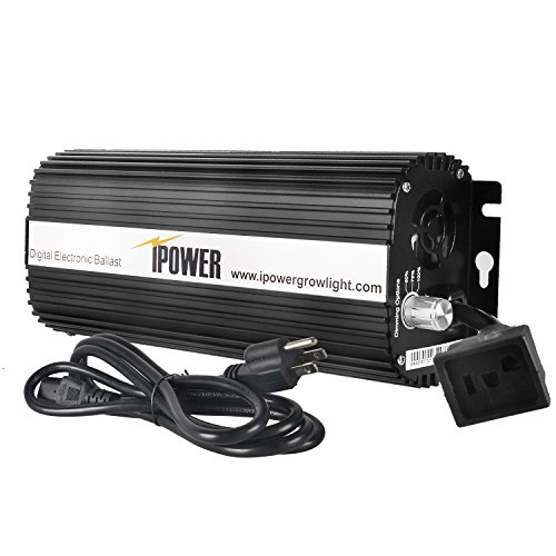 iPower GLBLST1000D Horticulture 1000 Watt Digital Dimmable Electronic Ballast for Hydroponics HPS MH Grow Light, 1000W, Black