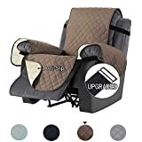 NEKOCAT Recliner Slipcover, Sofa Cover Non-Slip Slipcover for Recliner Chair,Slipcovers for Furniture Sofa Throw for Pets, Dogs, Recliner,Living Room,Seat Width up to 22 Inch (Recliner, Chocolate)