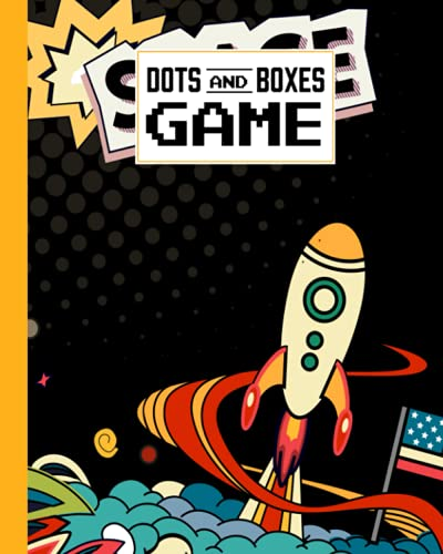 Dots And Boxes Game: Premium Rocket Cover Dots And Boxes Game, A Classic Strategy Game - Large and Small Playing Squares, 120 Pages, size 8