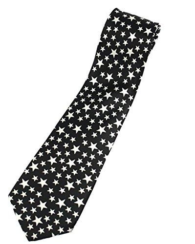 Zac's Alter Ego Cravate noire avec étoiles blanches
