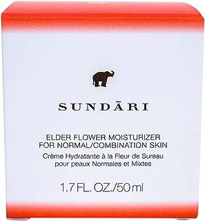 Sundari Elder Flower Moisturizer for Normal to Combination Skin, 1.7 Ounce